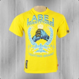 Label 23 Männer T-Shirt Twentythree yellow