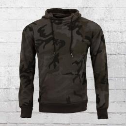 Urban Classics Herren Kapuzensweater schwarz camouflage
