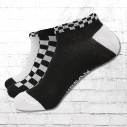 Urban Classics Sneaker Socken 3er Pack schwarz weiss kariert