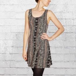 Vans Kleid Frauen Slammin Dress schwarz creme