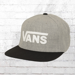 Vans Mütze Drop V 2 Snapback Cap grau meliert schwarz