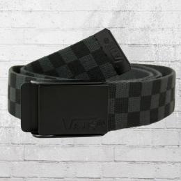 VANS Stoff Wendegürtel Deppster Reversible Belt black charcoal check