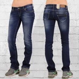 Viazoni Frauen Stretch Jeans Hose Sofia dunkelblau