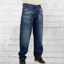 Viazoni Herren Jeans Hose Bruce Karotte blau