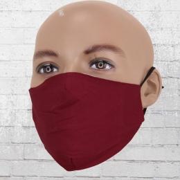 Viper Baumwoll Maske Mund-Nasen-Schutz weinrot