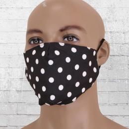 Viper Dotty Maske schwarz weiss gepunktet