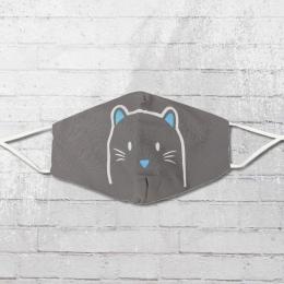 Viper Kinder Maske Katze grau grössenverstellbar