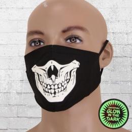 Viper Leuchtmaske Totenkopf verstellbar schwarz