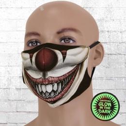 Viper Motiv Maske Glow In The Dark Clown bunt
