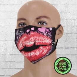 Viper Maske Glow In The Dark Kussmund bunt