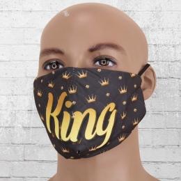 Viper Motiv Maske King schwarz gold