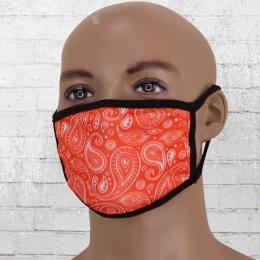 Viper Motiv Maske Paisley rot