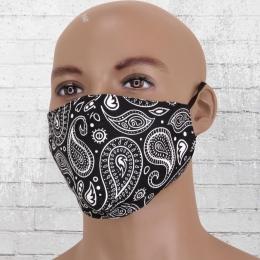 Viper Motiv Maske Paisley schwarz