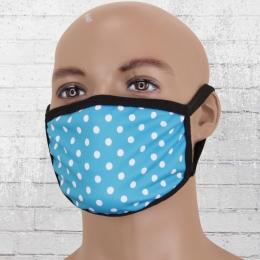 Viper Maske blau weiss gepunktet