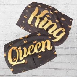 Viper Masken Set King Und Queen schwarz gold