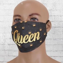 Viper Stoff Maske Queen schwarz gold