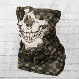 Viper Tube Schlauchschal Digital Camouflage Totenkopf oliv kariert