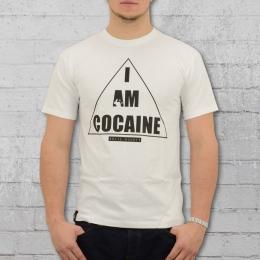 White Rabbit Herren T-Shirt I Am Cocaine weiss