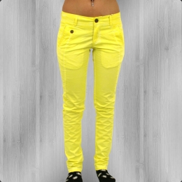 Jetlag Damen Colour Jeans Hose WO 05 baby yellow
