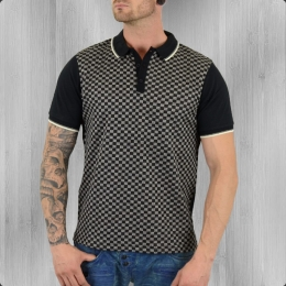 Merc London Herren Polo Shirt Woking schwarz