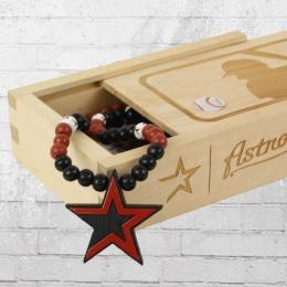 Wood Fellas Kette MLB Team Necklace Houston Astros schwarz rot weiss