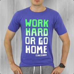 C like Zebra Herren T-Shirt Work Hard blau multi