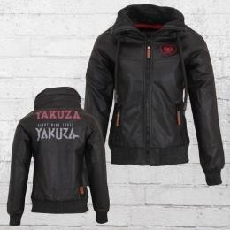 Yakuza Damen Jacke aus Kunstleder schwarz