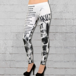 Yakuza Damen Leggings Commandments LEB 9146 weiss