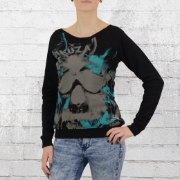 Yakuza Damen Sweatshirt Skull Allover Sweater GSB 9119 schwarz