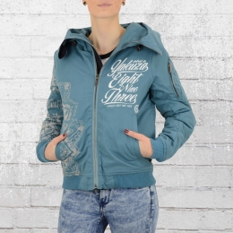 Yakuza Damen Bomber Winterjacke Inked in Blood GJB 9141 blau