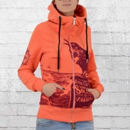 Yakuza Frauen Kapuzenjacke Crow Zip Hoody GHZB 9136 orange