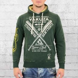 Yakuza Herren Kapuzensweater Streetwear Hoody HOB 9022 grün