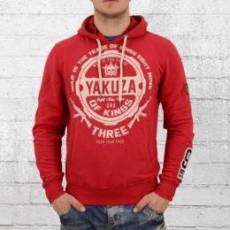 Yakuza Herren Kapuzensweater Trade Kings Hoody rot