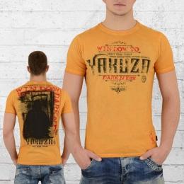 Yakuza Herren T-Shirt Darkness TSB 9008 vintage gelb