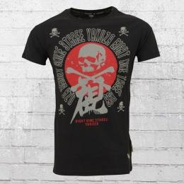 Yakuza Male T-Shirt Nippon Skull black