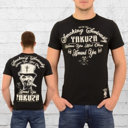 Yakuza Herren T-Shirt Smoking Seriously schwarz