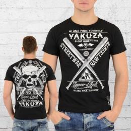 Yakuza Herren T-Shirt Streetwear TSB 9011 schwarz