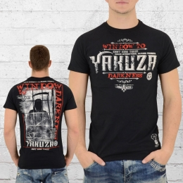Yakuza Herren T-Shirt Window to Darkness TSB 9008 schwarz