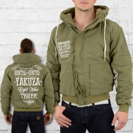 Yakuza Herren Winter Jacke WJB 9044 Hunter and Hunted Military Jacket oliv