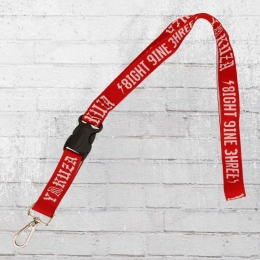 Yakuza Lanyard Schlüsselband Eight Nine Three rot weiss