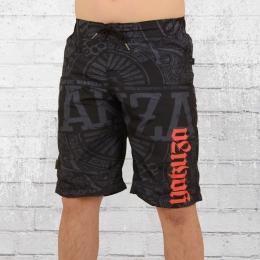 Yakuza Männer Boardshort No Matter BSB 10035 Badehose schwarz