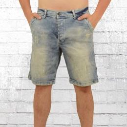 Yakuza Männer Jeans Short Caught in a Circle vintage hellblau