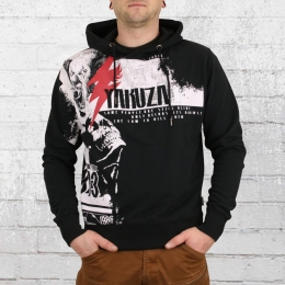 Yakuza Männer Kapuzenpullover Crucified Hoody schwarz