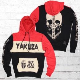 Yakuza Männer Kapuzensweater Allergic Hoodie schwarz rot beige