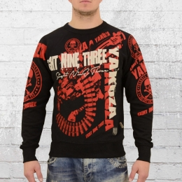 Yakuza Männer Pullover Armory Sweater schwarz rot