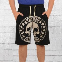 Yakuza Männer Sweat Shorts Skull Label 10037 schwarz