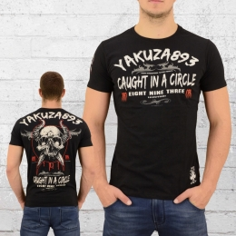 Yakuza Männer T-Shirt Caught In A Circle schwarz