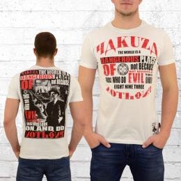 Yakuza Männer T-Shirt Dangerous Place weiss