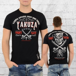 Yakuza Männer T-Shirt Fight Faith 9010 schwarz