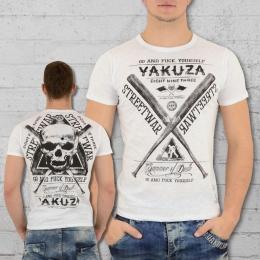 Yakuza Männer T-Shirt Streetwear TSB 9011 weiss